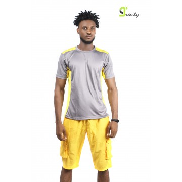 Yetty Shirt- Yellow and Grey